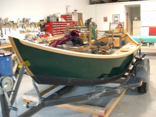 Building a wooden drift boat stopping by montana